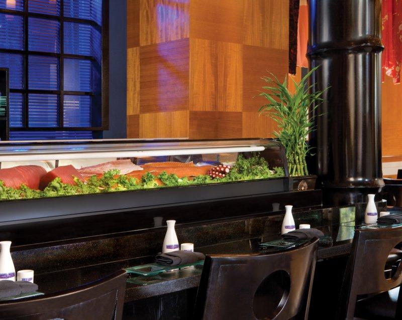 The sit down sushi bar inside Kimonos restaurant at the Walt Disney World Swan Resort