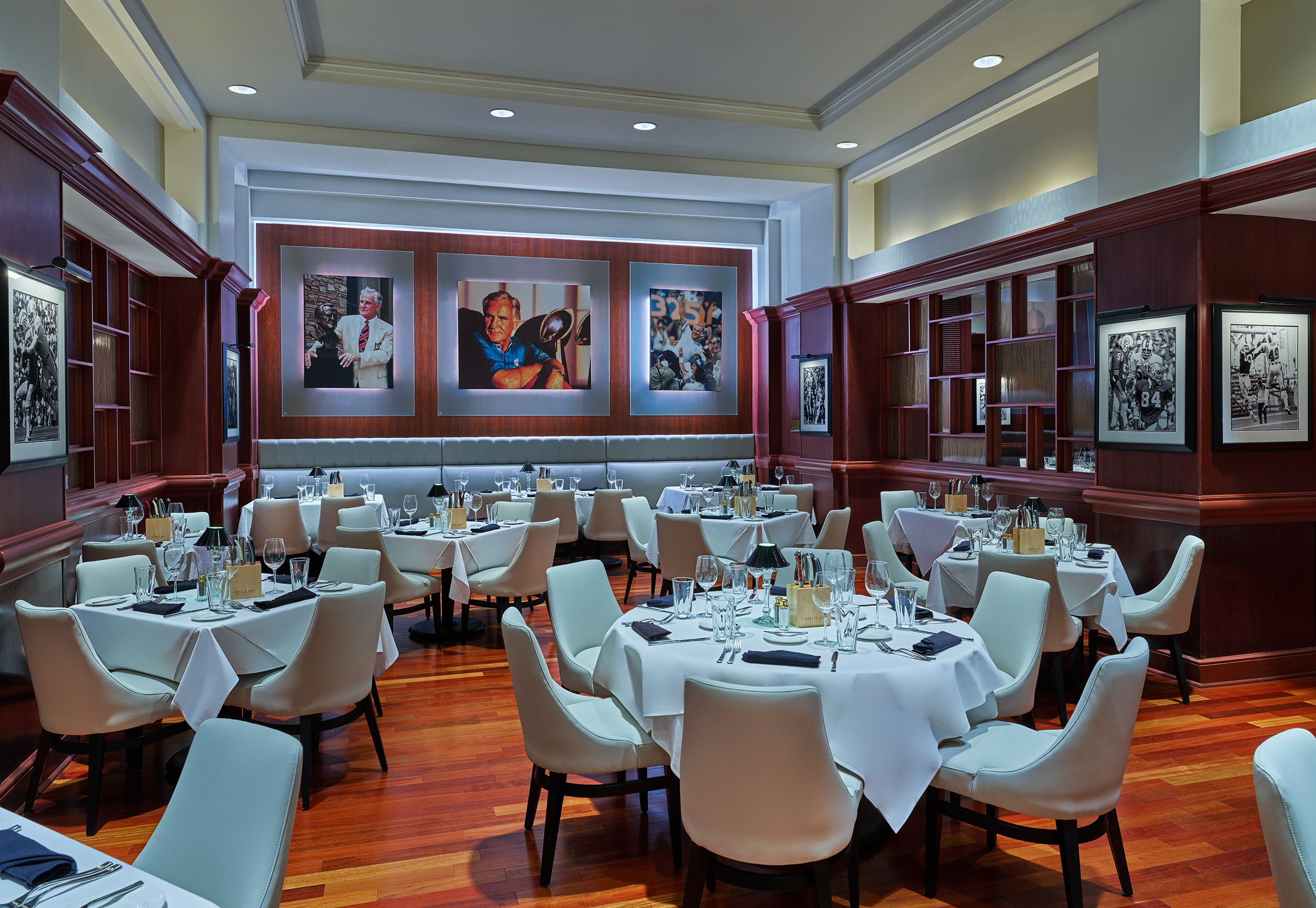 Main dining room in Shula's Steak House at the Walt Disney World Dolphin Resort
