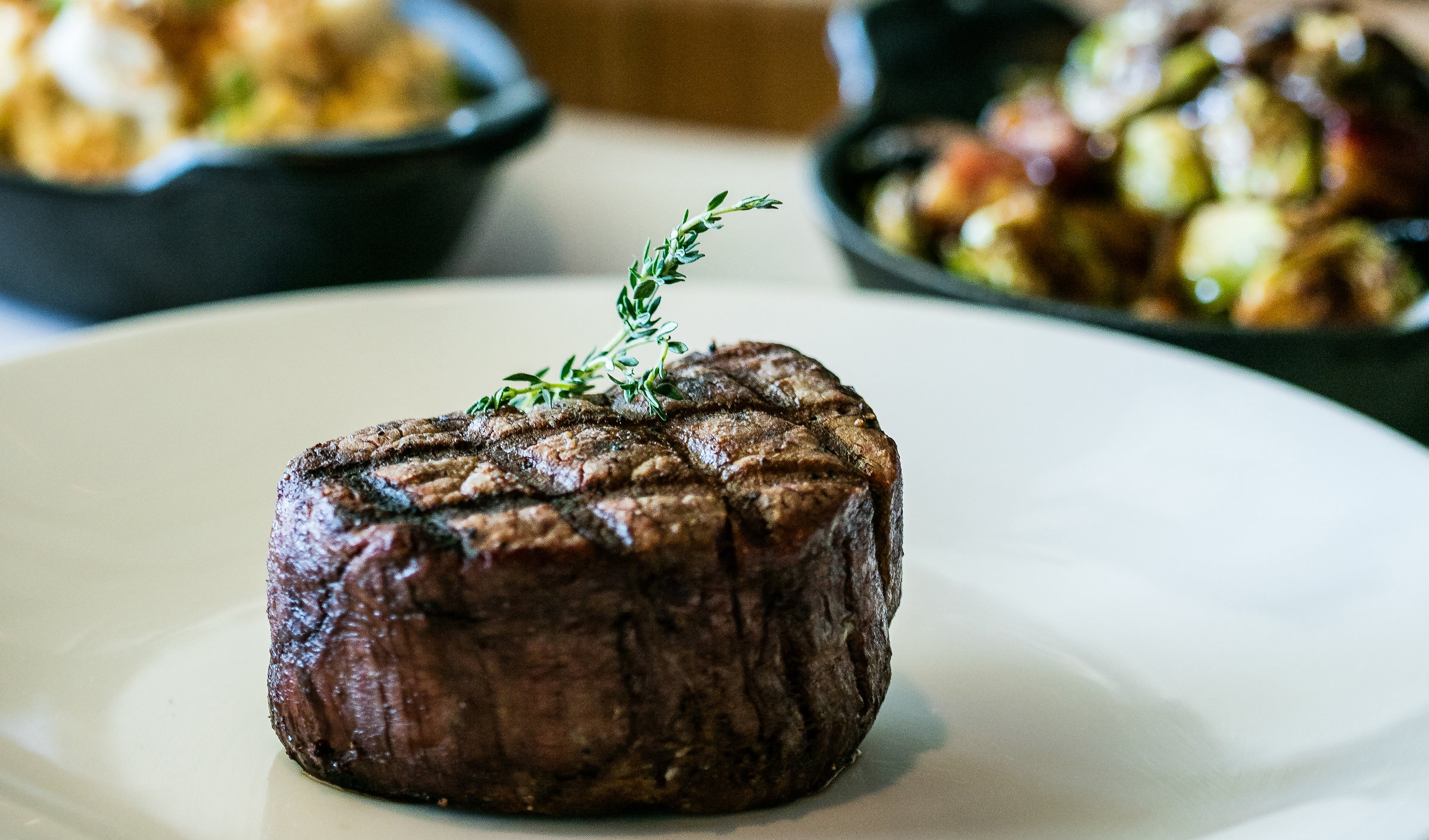 A filet mignon steak served at Shula's Steak House at the Walt Disney World Dolphin Resort
