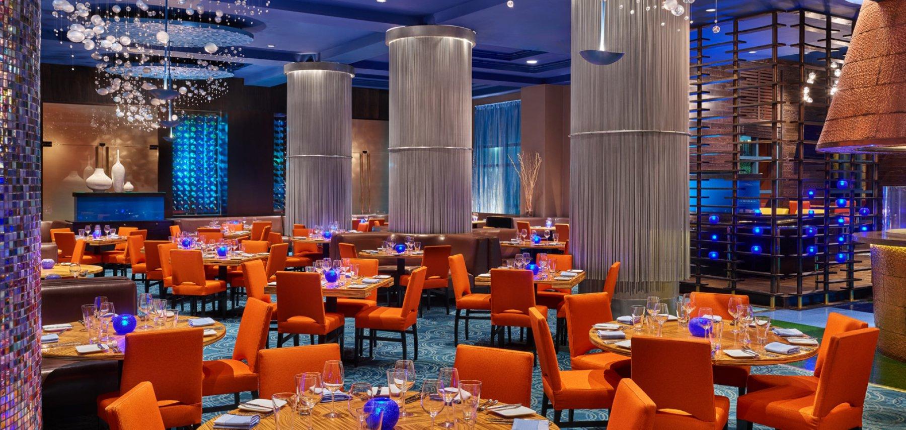 The main dining room at Todd English's Bluezoo at the Walt Disney World Dolphin Resort
