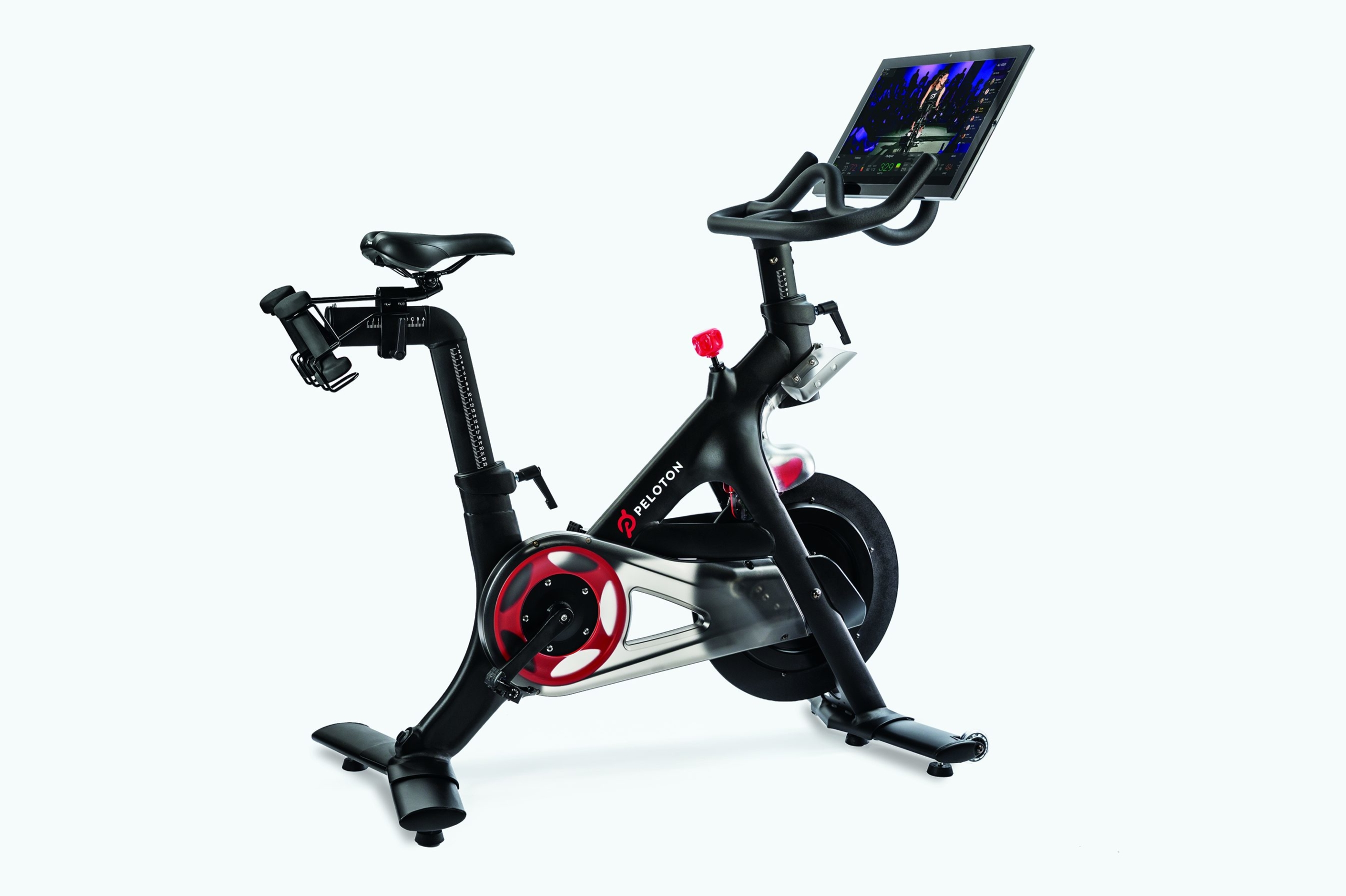 Peleton bikes available at the health club.