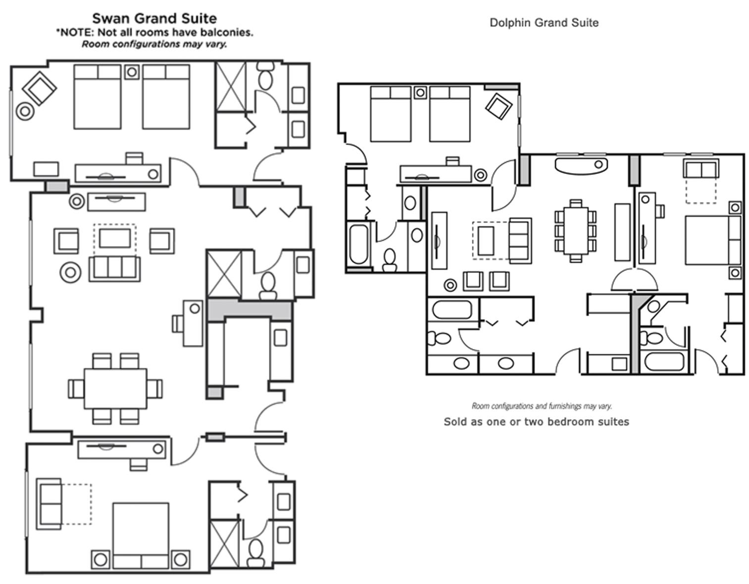 Grand Suite Floor Plans